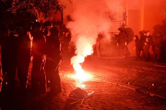 Disturbios en Berlí. Foro: Efe