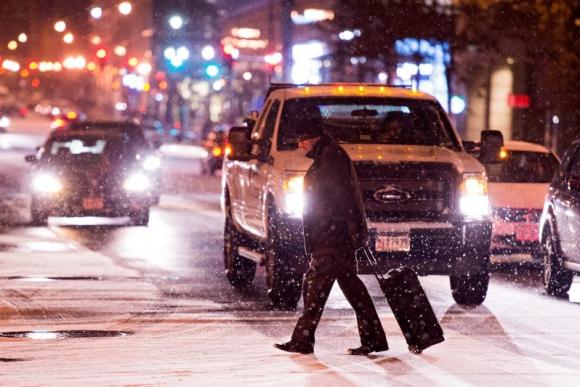 Washington se prepara para la tormenta de nieve Jonás. Foto: EFE.