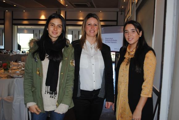 Sofía Bustin, Leticia Bof, Eugenia Queirolo.