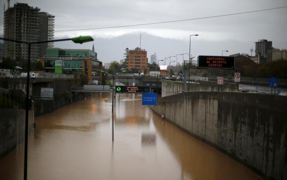 Inundaciones en Chile. Foto Reuters