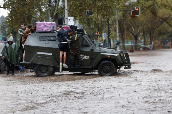 Inundaciones en Chile. Foto: AFP