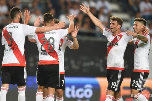River Plate enfrentó a Olimpia e Iván Alonso anotó uno de los tantos. Foto: Prensa River Plate