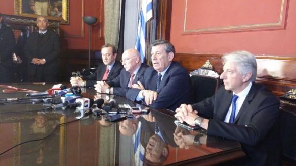 Reunión de cancilleres del Mercosur en Montevideo. Foto: Darwin Borrelli