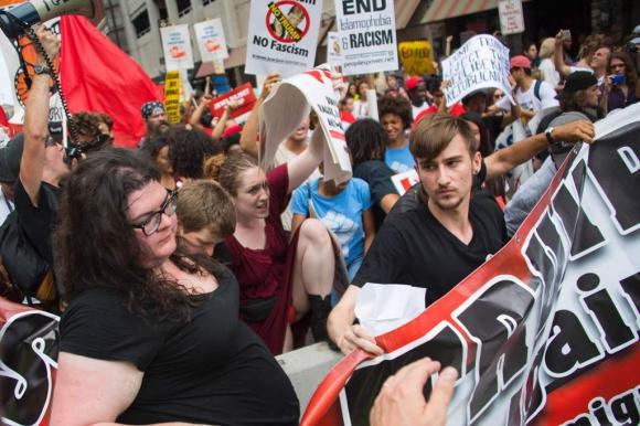 Manifestaciones anti- Trump. Foto:AFP