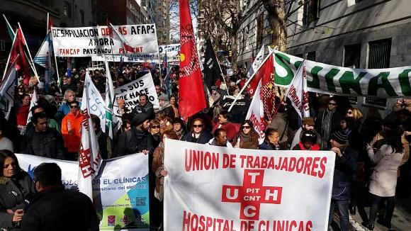 Movilización de los sindicatos de la Salud. Foto:Ariel Colmegna
