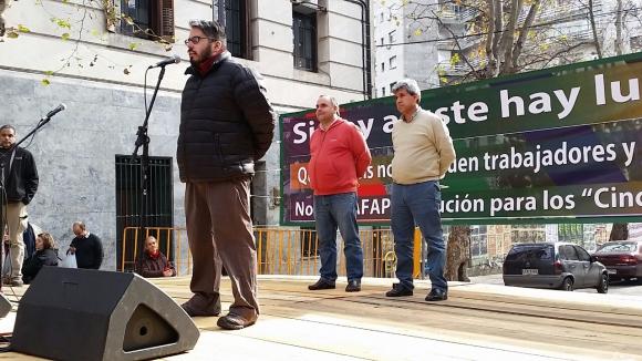 Federación de Salud se moviliza. Foto: Ariel Colmegna