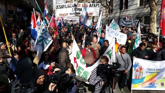 Federación de la Salud se moviliza. Foto: Ariel Colmegna