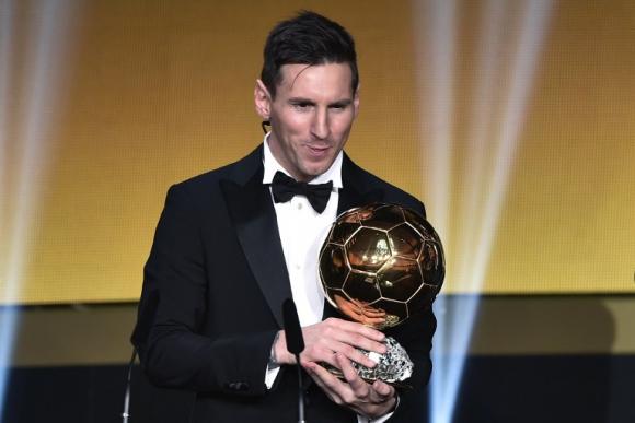Lionel Messi, ganador del Balón de Oro 2015. Foto: AFP