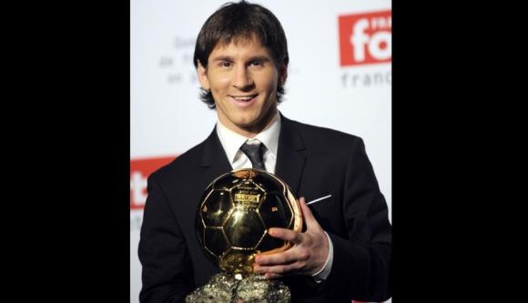 Messi recibió el primer Balón de Oro en 2009