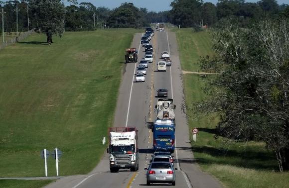 También se registra intenso tránsito en rutas al Este del país. Foto. Ricardo Figueredo