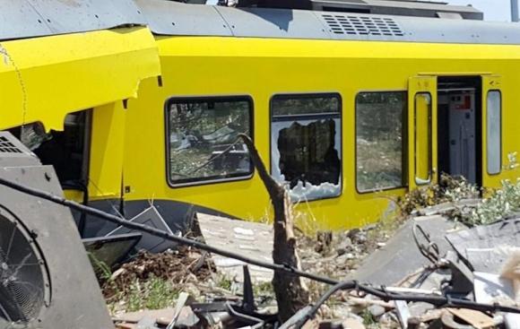 Accidente de trenes en Italia. Foto: EFE