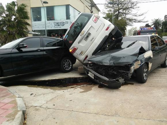 Accidente en Punta del Este.Foto: Julio Pérez
