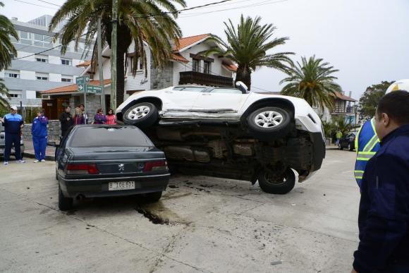 Accidente en Punta del Este. Foto: Ricardo Figueredo