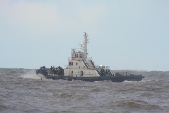 Encalló un carguero en la Isla de Lobos. Foto: Ricardo Figueredo