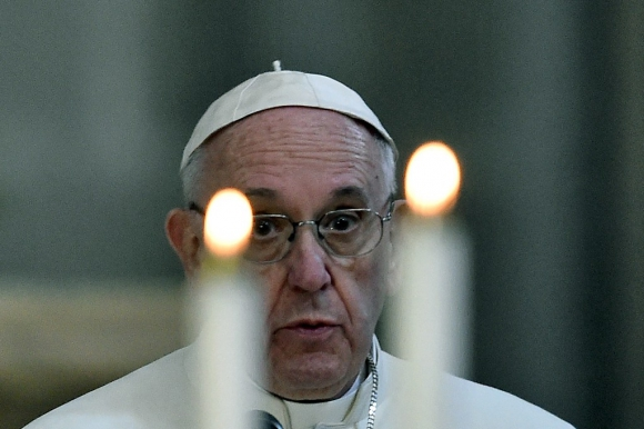 El papa Francisco llega a Mexico. Foto :AFP