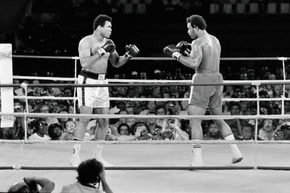 Muhammed Ali y Foreman. Foto:AFP