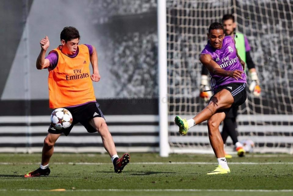 Federico Valverde durante un entrenamiento de Real Madrid Castilla. Foto: Real Madrid oficial