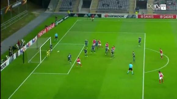 Gol Velázquez - Sporting Braga 3-1 Konyaspor - Europa League