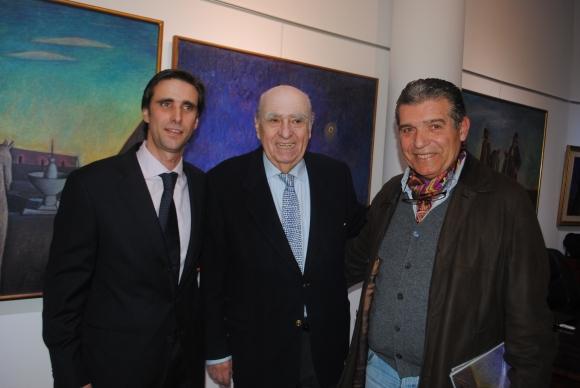 Luis Ignacio Gomensoro, Julio María Sanguinetti, Carlos Páez.