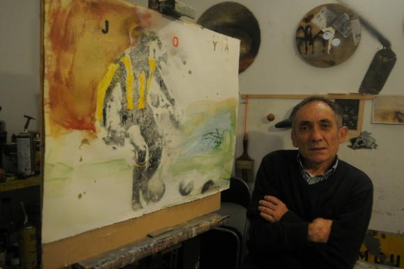 Carlos Seveso y su homenaje a Joya (Foto: Ariel Colmegna)