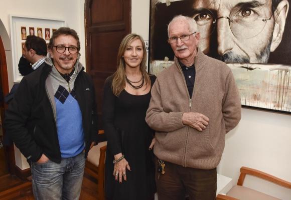 Fernando Oliveri, Adriana Silva y Rosas, Enrique Blixen.