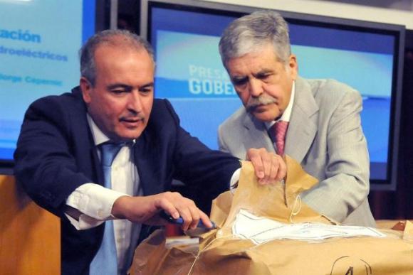 José López y Julio De Vido. Foto: La Nación / GDA