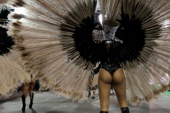 Mangueira en el Sambódromo de Rio de Janeiro. Foto: AFP