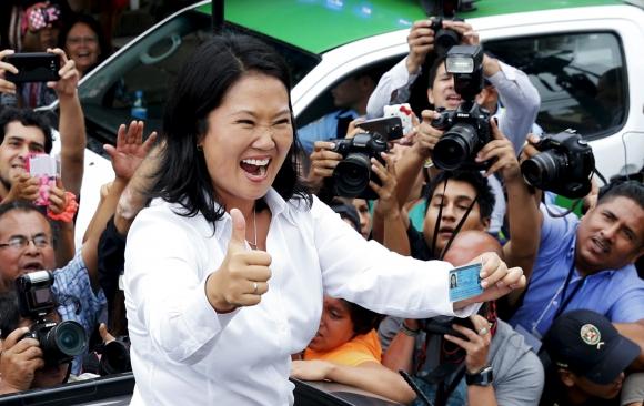 Keiko Fujimori se adjudicó el triunfo en primera vuelta. Foto: Reuters