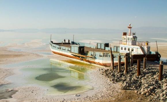 Así está actualmente el lago de Urmía, en Irán. Foto: Pedram Yazdani