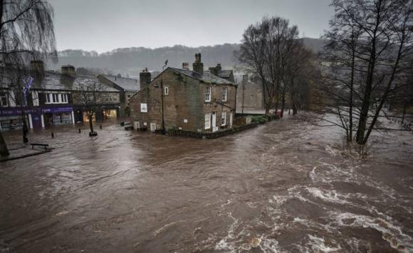 Inundación de Hebden Bridge. Foto: Steve Morgan.