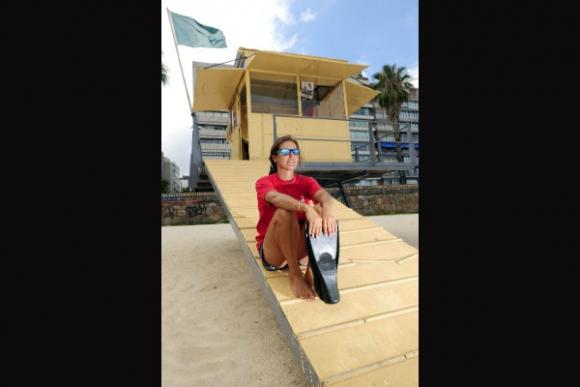 Alejandra Bazán en su puesto de Pocitos. (Foto: Fernando Ponzetto)