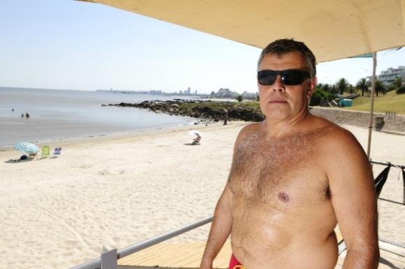 Nelson Clavera, presidente de la Asociación Nacional de Guardavidas. (Foto: Fernando Ponzetto)