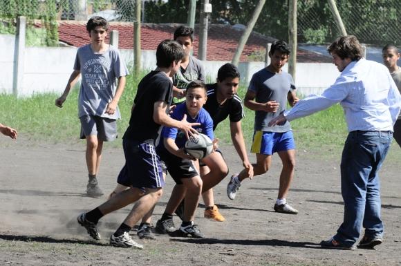 Jugadores de Fiji en el Liceo Jubilar. Foto: Darwin Borrelli