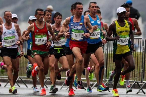 Nicolás Cuestas durante la maratón. Foto: EFE