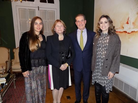 Lola Moreira, María Helena Rodríguez Larreta, Embajador de Brasil Hadil Fontes da Rocha, Roberta Sá.