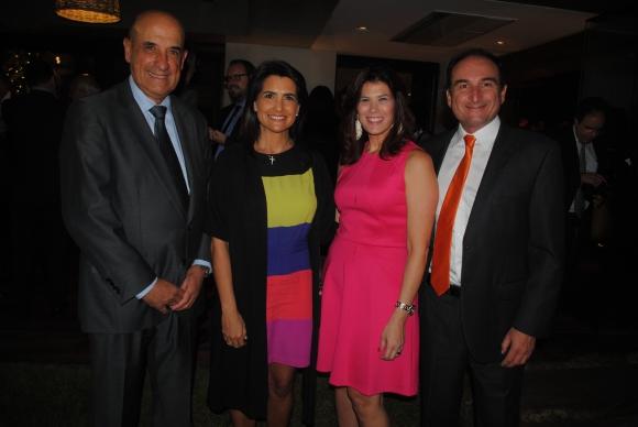Mario y María José Albarracín, Embajadora de Colombia Natalia Abello, Luis Eduardo Camacho.