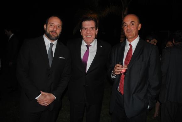 Alejo Corral, Embajador de Argentina Guillermo Montenegro, Sebastián Braga.