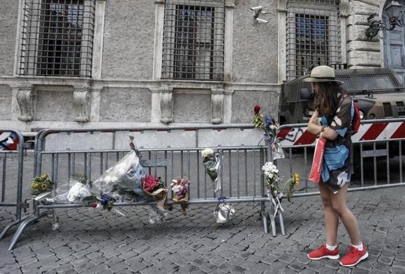 El día después de la masacre en Niza. Foto: EFE