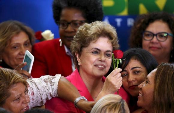 Dilma en un acto de