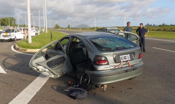 Accidente grave en el kilómetro 83 de Ruta Interbalnearia. Foto: R. Figueredo
