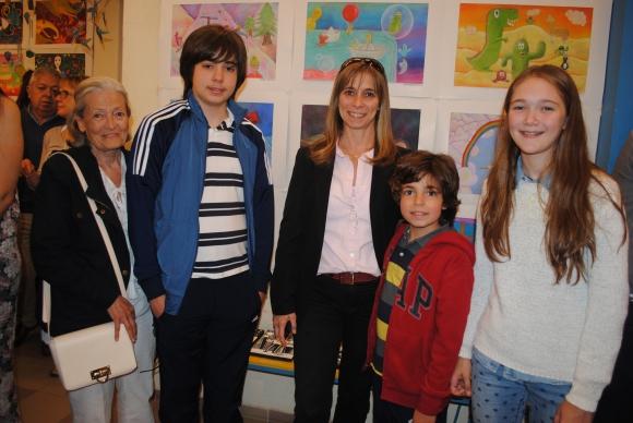 Sylvia Richardson, Ignacio Calvete, Ana Richardson, Matias Calvete, Federica Nieto.