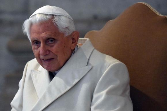 Benedicto XVI: en 2013 sorprendió con su renuncia como Papa. Foto: AFP