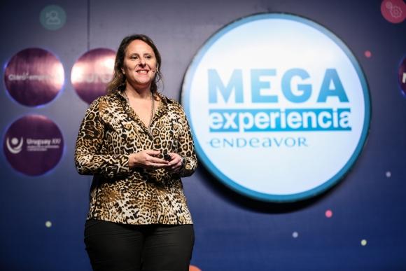 Faivich. Fue una de las oradoras en la MegaExperiencia Endeavor. Foto: Gentileza Endeavor.