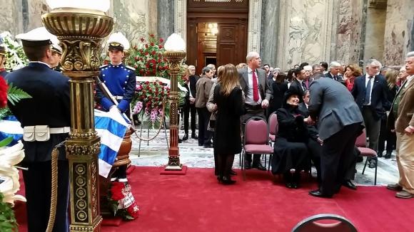 Velatorio del expresidente Jorge Batlle en el Palacio Legislativo. Foto: Ariel Colmegna