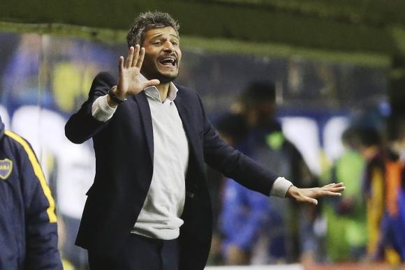 Gustavo Munúa en Boca Juniors-Nacional. Foto: EFE