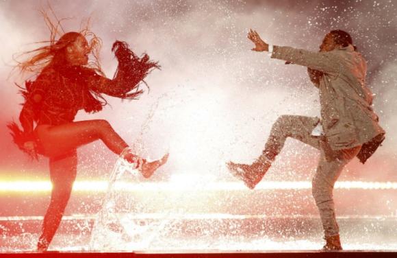 Beyoncé con Kendrick Lamar. Foto: Reuters
