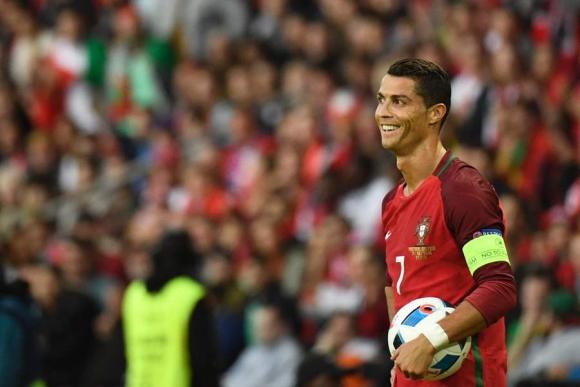 Cristiano Ronaldo durante el partido de Portugal. Foto: Reuters