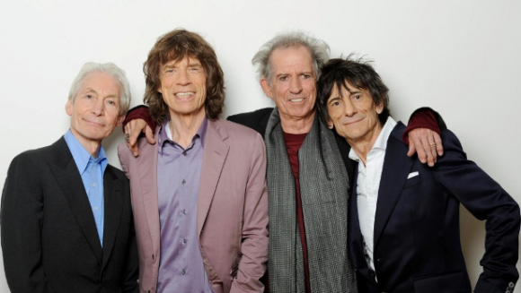 Charlie Watts, Mick Jagger, Keith Richards y Ron Wood