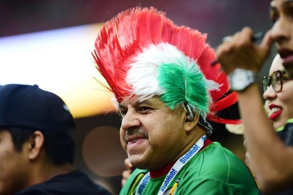 Tabárez en Uruguay-México. Foto: AFP.