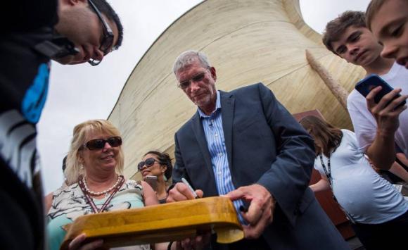 Ken Ham, impulsor de la construcción. Foto: EFE.